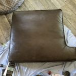 Picture of leather couch cushion restored with Rub n Restore