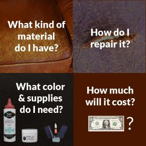 Inofo graphic with leather repair questions