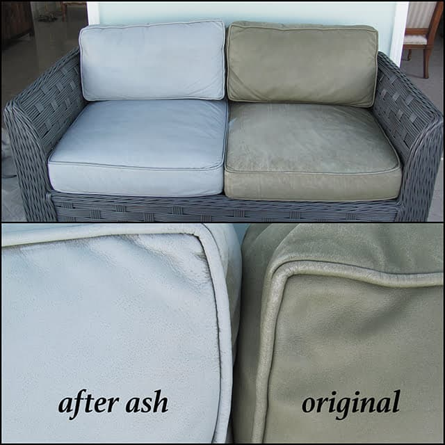Recolored couch with Ash dye