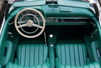 Picture of vinyl car or automotive interior