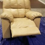 Picture of beige leather recliner chair
