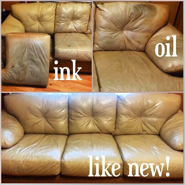 Couch restoration from oil and ink stains