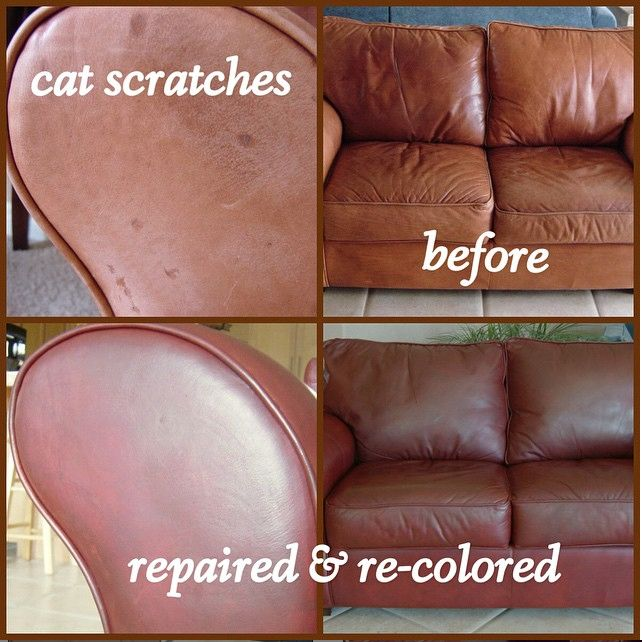 Leather Colour Dye Restorer Faded Worn Scuffs Sofas Ottomans Footstools Repair
