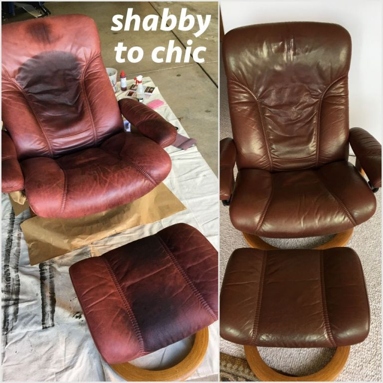 Cherrywood dye use to restore chair and footstool