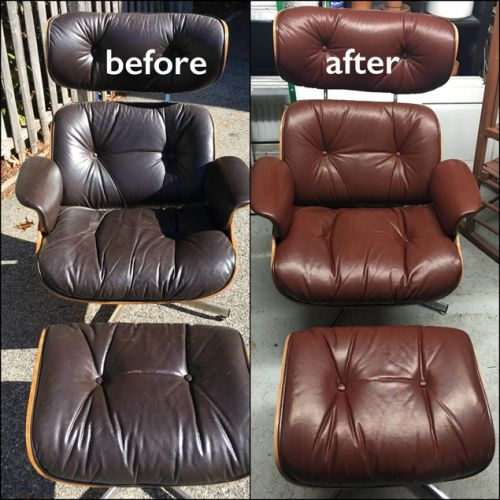 Lounge chair color refresh with cherrywood color