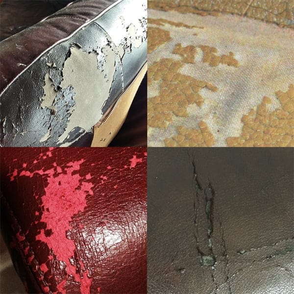 Degrading polyurethane leather