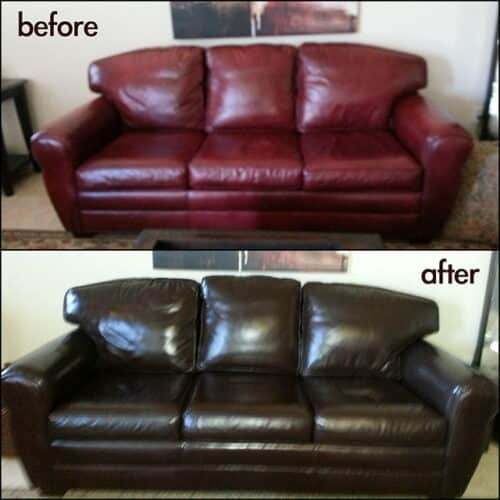 Mahogany Leather Furniture Dye Amp Vinyl Dye Refinish