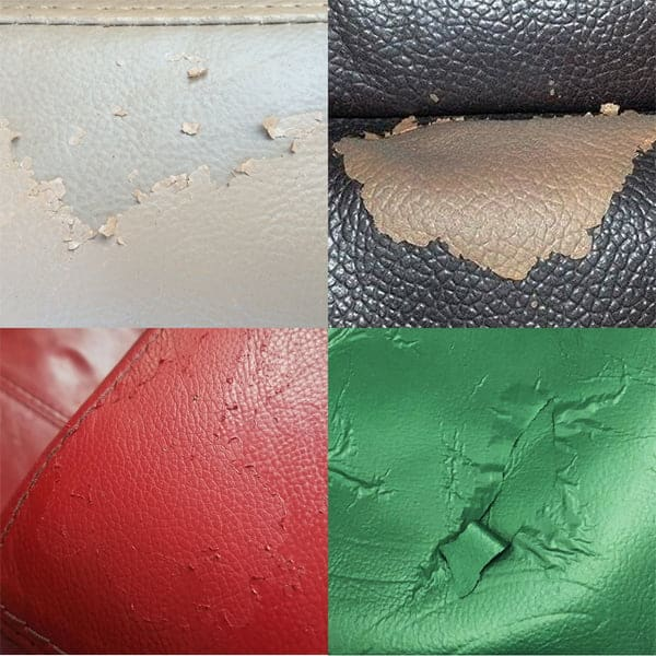 Peeling finish examples
