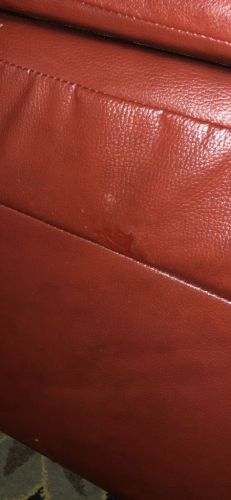 Image of vinyl after subpatch, filler repair, and Red Chili Rub n Restore