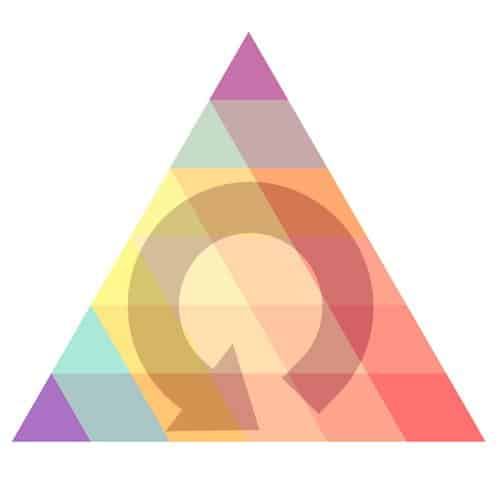 Reorder custom color pyramid graphic with swatches of color