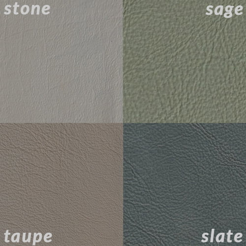 Infographic comparing Slate to Taupe, Stone, and Sage
