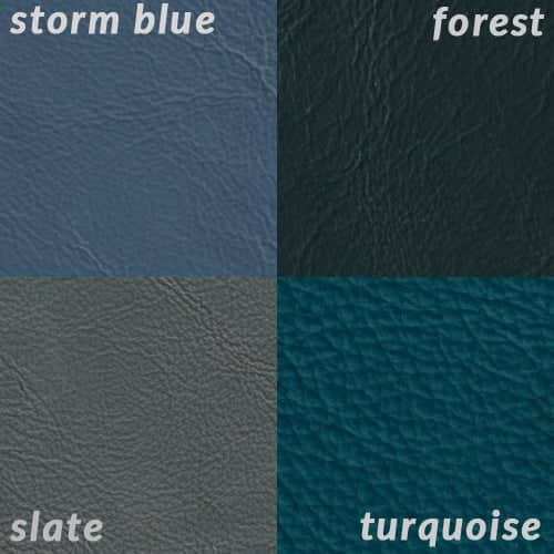 Infographic comparing Slate to blue and green colors with a similar value