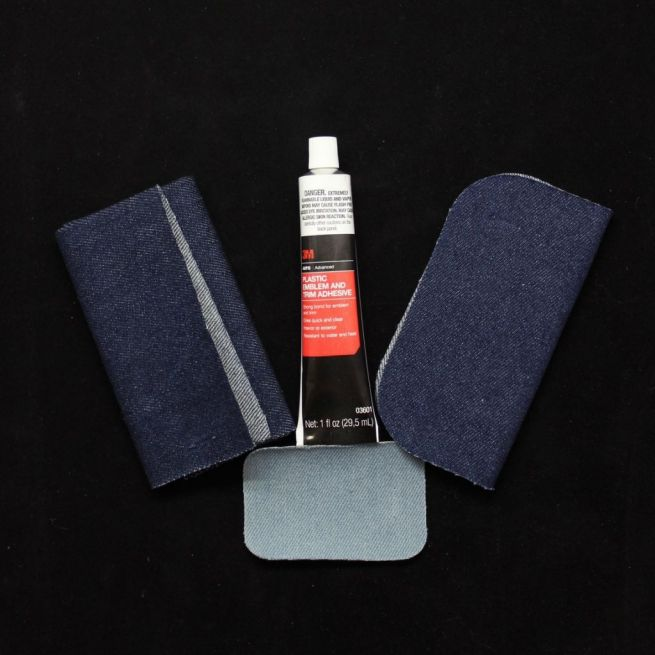 Picture of subpatch kit for repairing holes in leather, vinyl, or fabric